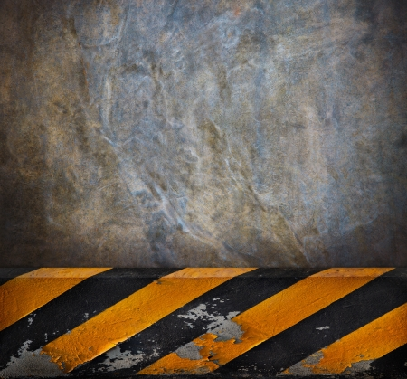 hazardous work: side road cement wall background use for multipurpose