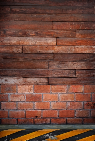 wood wall  side road use as multipurpose background photo