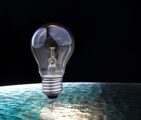 industrail: light bulb on blue and black background for multipurpose Stock Photo