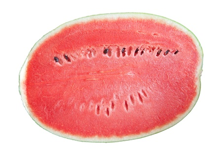 water melon: half of water melon isolated white