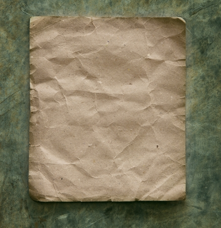 free border: recycle paper on cement wall with free space Stock Photo
