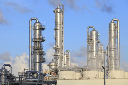 chemical engineering:  refinery factory plant in heavy industry estate