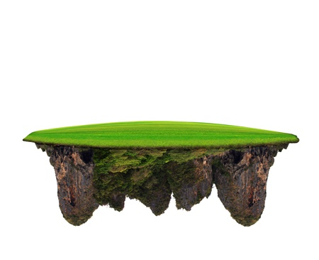 float: green grass field on lime stone mountain use for multipurpose amazing background and backdrop
