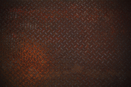 rust texture on diamone plate  use as multipurpose background Stock Photo - 20581715
