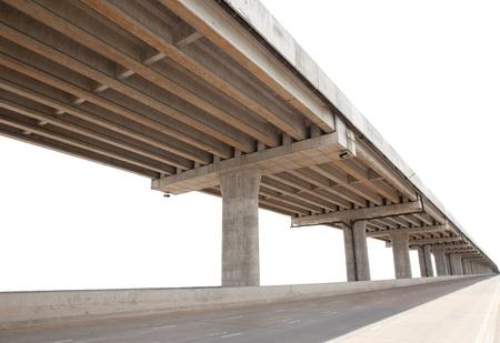 geïsoleerd cement brug infrastructuur witte achtergrond gebruikt voor multifunctionele Stockfoto