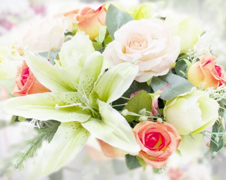 flower bouquet for home decorated photo
