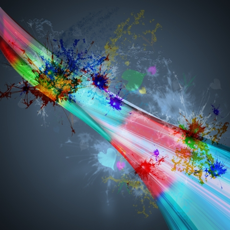 abstract background rainbow light with splashing color Stock Photo - 21647797