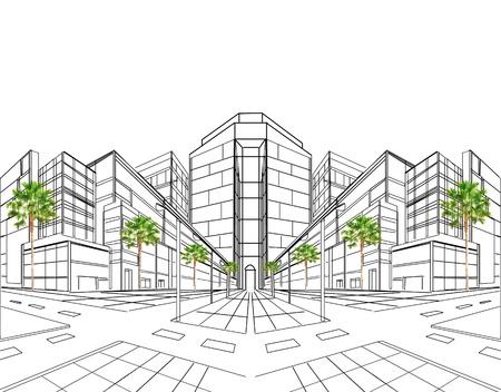ingeniero civil: plan de dibujo en perspectiva para la construcción de obras de construcción y de usos múltiples