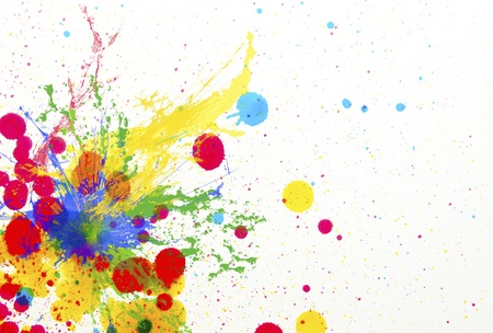 splashing of ink color drop use for colorful background Stock Photo - 21647844