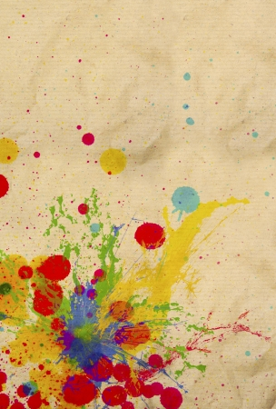 splatter: splashing of ink color drop use for colorful background Stock Photo