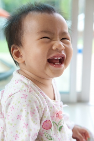 face of asian baby  photo