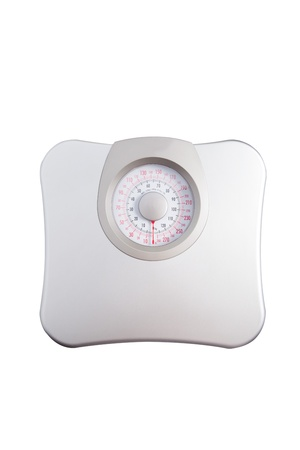 weight measurement isolated white photo
