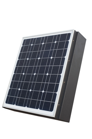 objected: solar cell panel isolated white