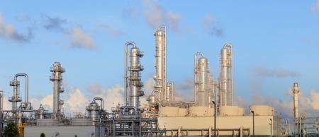 heavy industry: refinery factory plant in heavy industry estate