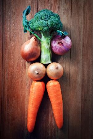 good health: idee voor een gezonde zorg eten van groente een goede gezondheid en sterk lichaam