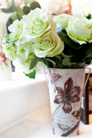 flowers bouquet arrange for decoration in home  photo