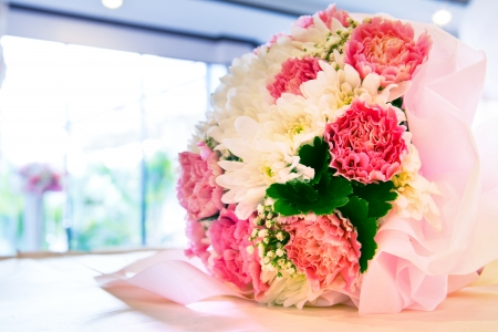 artificial flowers: close up of colorful petal flower blooming  Stock Photo