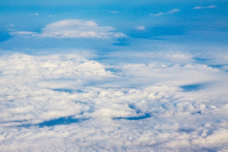 scene of above white cloud from jet plane window  photo