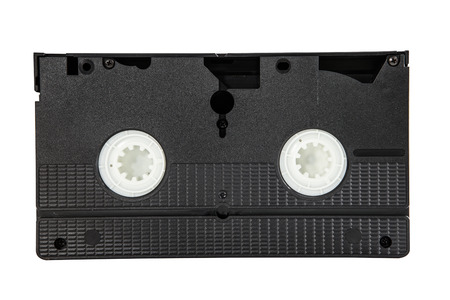 video cassette tape: old video cassette tape isolated white