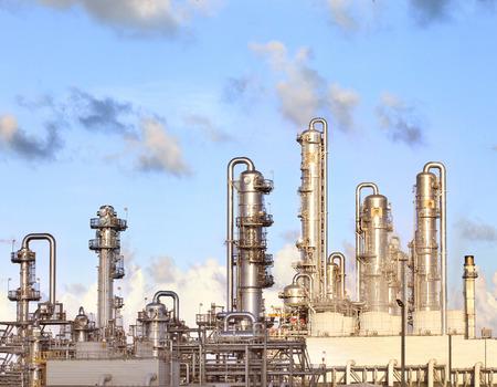 heavy industry:  refinery petrochemical plant in heavy industry estate