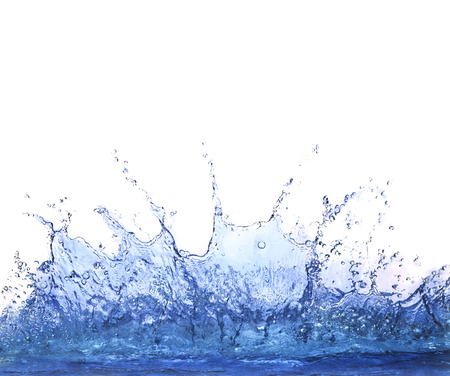 dring: splashing clear water on white background use for refreshment and cool dring water background  Stock Photo