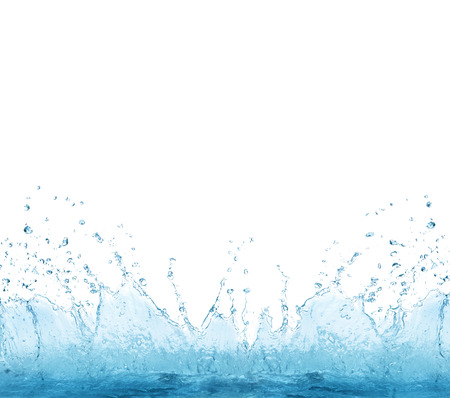 splashing clear water on white background use for refreshment and cool drinking water background  photo