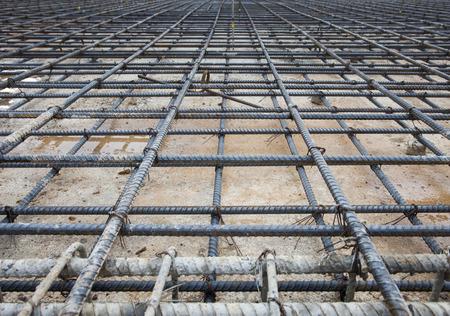 cement pile: reinforce iron cage net for built buiilding floor in construction site