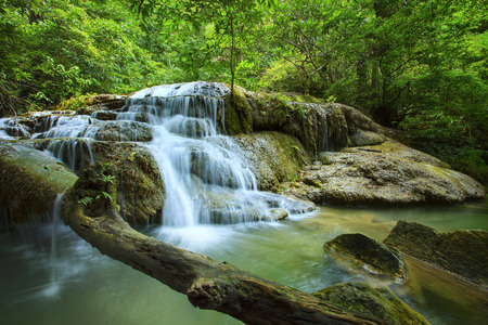 national plant: lime stone water fall in arawan water fall national park kanchanaburi thailand use for natural background