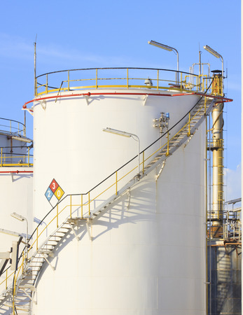 RFM extract chemicals tank strorage in petrochemical refinery plant use as industry scene background photo