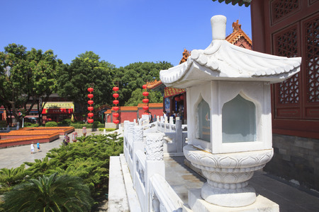 summer palace: front view of Simulation of Old Summer Palace ,Gardens of Perfect Brightness, Imperial Gardens ,Zhuhai southern of China republic