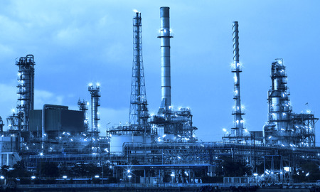 oil refinery industry in metalic color style use as metal style of heavy industry background Stock Photo - 32515693