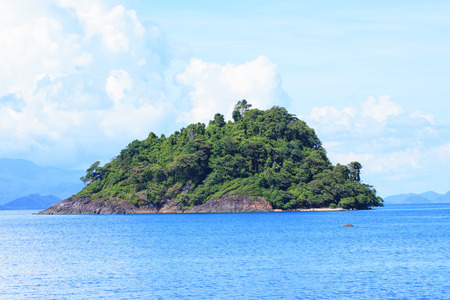 trad: rock island and blue sea water in trad province eastern of thailand Stock Photo