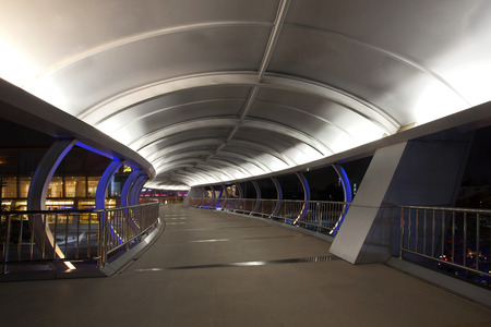 overpass: night scene of beautiful lighting overpass  road crossing bridge in heart of bangkok thailand