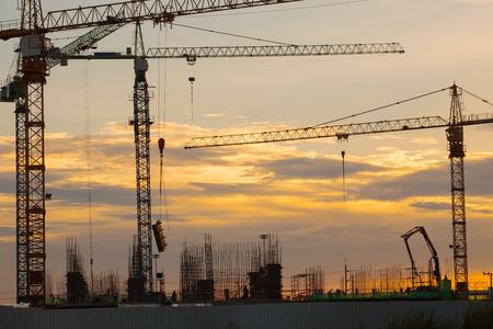 contruction: crane and construction site