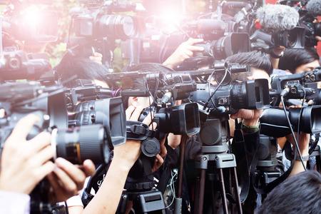 reportero: prensa y medios de comunicación de la cámara