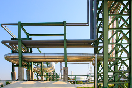 industry background: equipment and pipe line tube in industry estate scene use for industrial and petrochemical industry background,backdrop