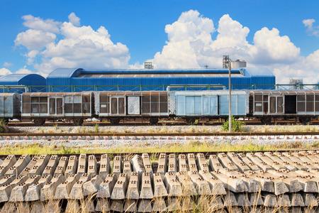 land transport: railways track and land  transport in industry estate
