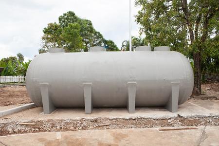 underground water reserve tank preparing in construction site plant 版權商用圖片