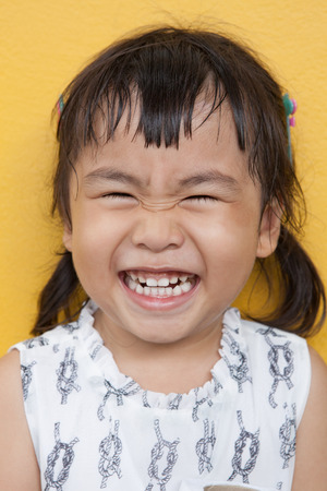 4s: face of asian 4s year old laughing show good healthy tooth ,happy emotion