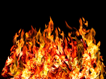 textspace: colorful of hot fire Stock Photo