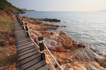 walking trail: walking trail in khao leam ya sea national park rayong eastern of thailand