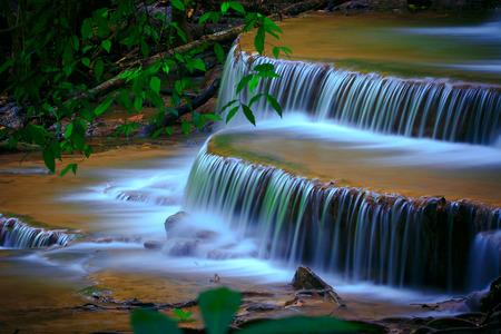 water falls: water falls in deep forest kanchanaburi thailand Stock Photo