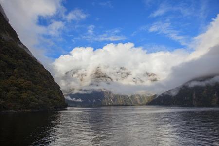 newzealand: milford sound fjord land south island new zealand Stock Photo