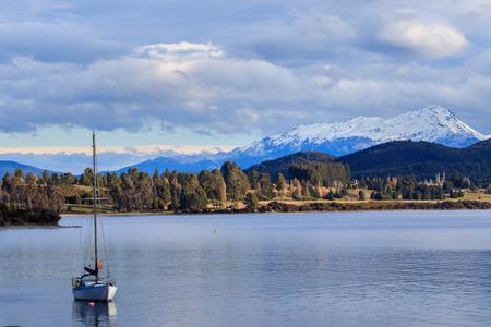 Te: beautiful sceninc of lake te anau south island new zealand important traveling destination of tourism