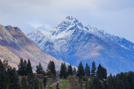 queens: beautiful scenic of queen town south island new zeraland Stock Photo