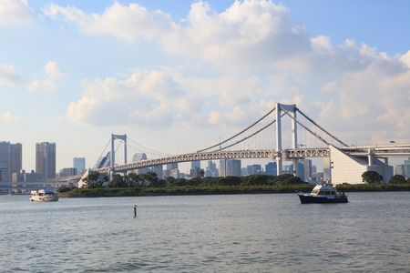 rainbow bridge: rainbow bridge odaiba tokyo japan