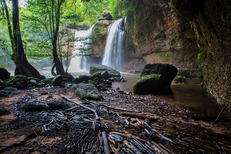 waterfalls: haew suwat waterfalls in khao yai national park north eastern thailand
