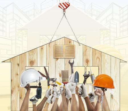 mantenimiento: Casa y la mano de levantamiento diy equipo de herramientas contra el uso de casa de madera para la reparación y el mantenimiento de casa artesano de trabajo