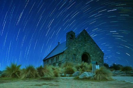 good shepherd: church of good shepherd  important landmark and traveling destination near lake tekapo south island new zealand