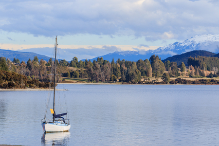 destination scenic: beautiful scenic of lake te anau south island new zealand important traveling destination of tourism